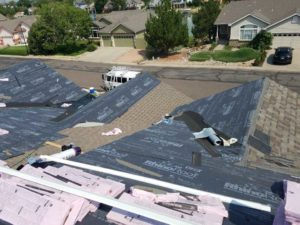 Roof replacement in Denver Colorado progress picture