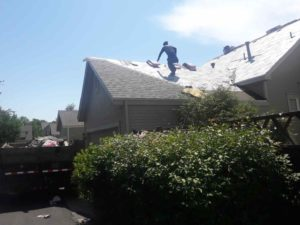 Residential Roofing Completed Asphalt Shingles Roof