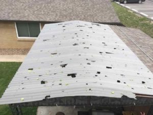 Hail damage roof insurance claim