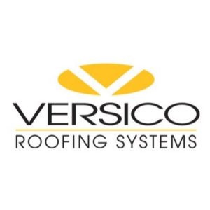 Versico roofing systems black and white logo