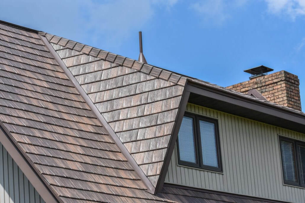 Metal shingle metal roof installation