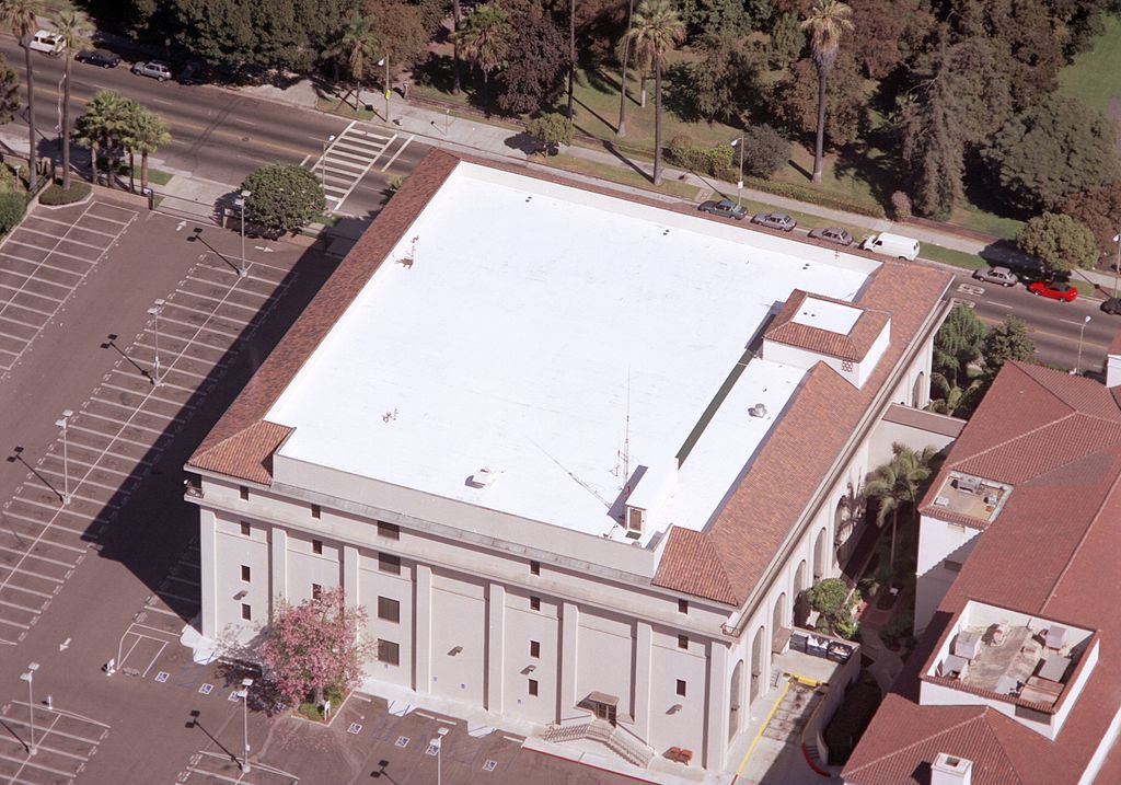 coated roof from above