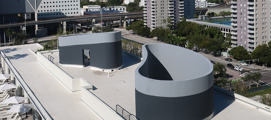 hotel with commercial roof coating